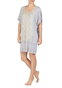 Ellen Tracy Short Caftan Sleep Tunic