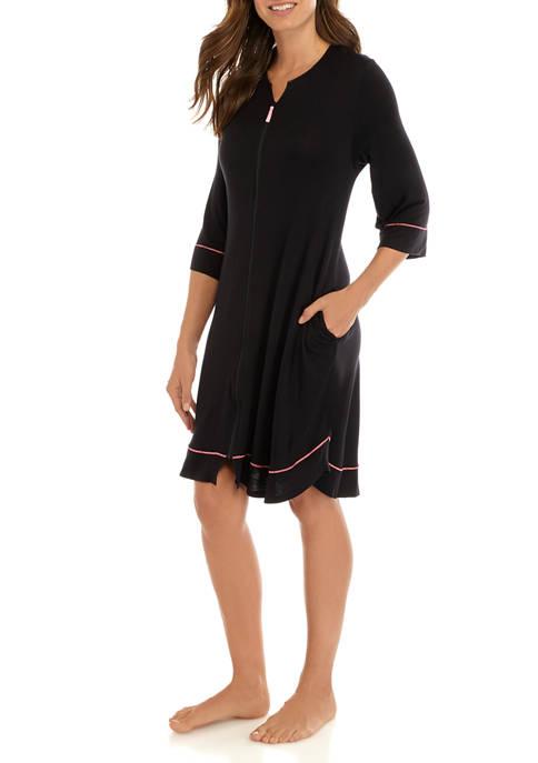 3/4 Sleeve Zip Robe