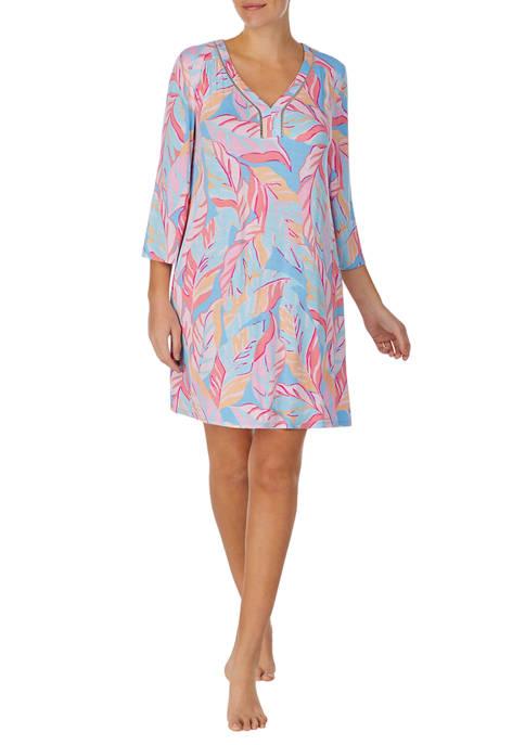 Ellen Tracy 3/4 Sleeve Short Gown