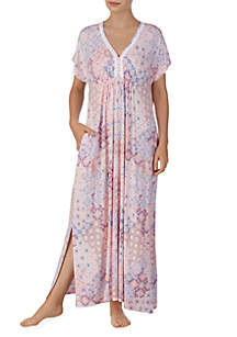 Ellen Tracy Long Sleep Caftan