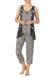 Ellen Tracy 2 Piece Sleeveless Pajama Set