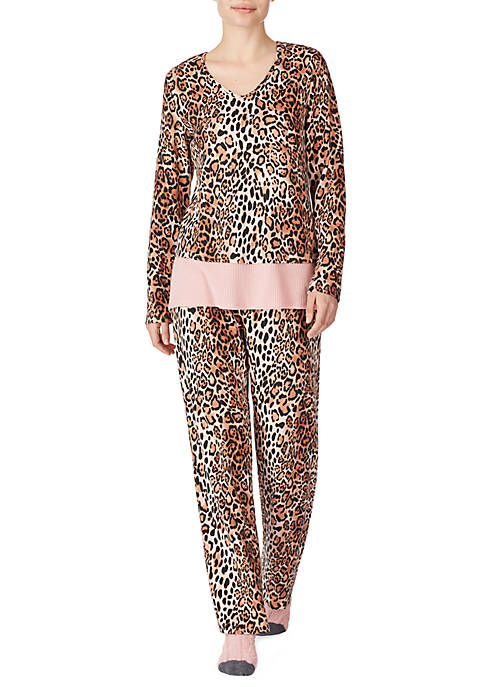 Ellen Tracy Womens 3 Piece Pajama Set with