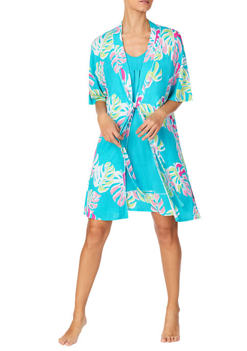 Ellen Tracy 2 Piece Chemise and Wrap Resort