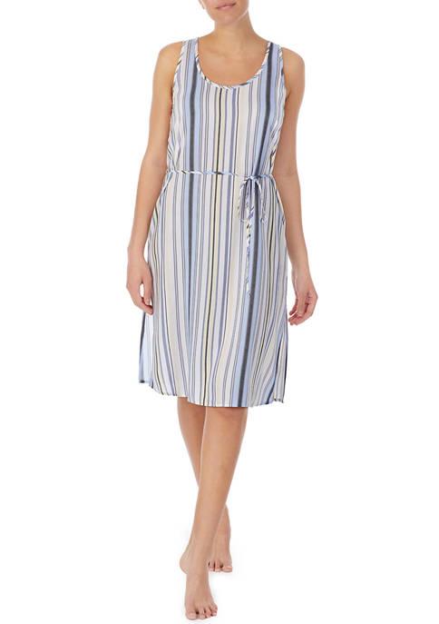 Ellen Tracy Belted Tie Midi Lounge Dress
