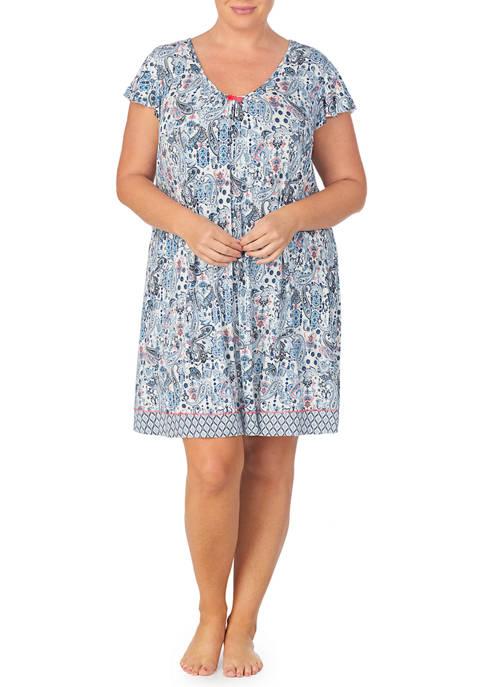 Ellen Tracy Plus Size Short Sleeve Chemise