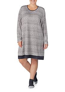 Plus Size Sleep Shirt Dress
