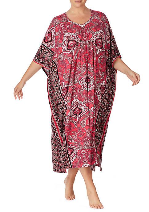 Ellen Tracy Plus Size Long Caftan