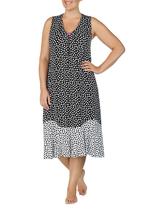 Ellen Tracy Plus Size Midi Night Gown