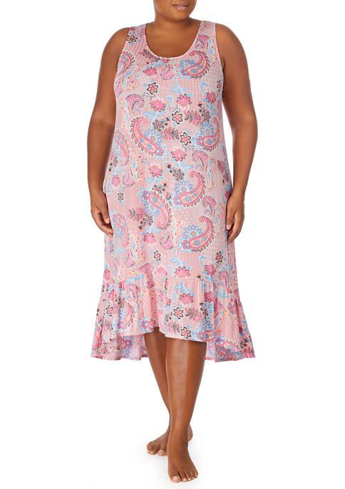 Ellen Tracy Plus Size Ultra Soft Midi Gown