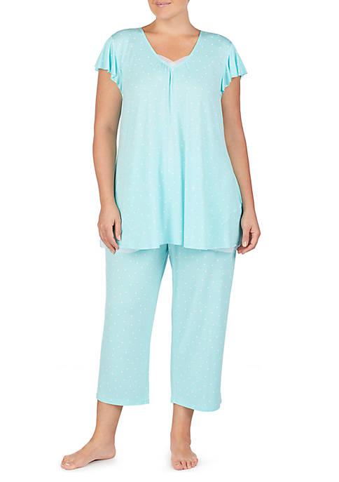Plus Size Short Sleeve Pajama Top