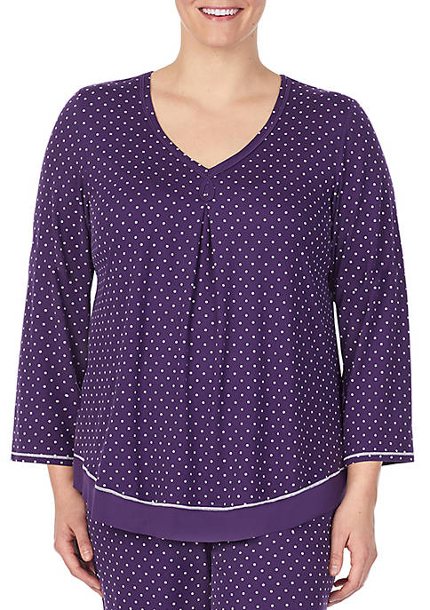 Plus Size 3/4 Sleeve Sleep Top