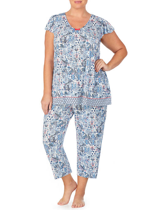 Ellen Tracy Short Sleeve Pajama Top