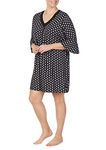 Ellen Tracy Plus Size 3/4 Sleeve Short Tunic