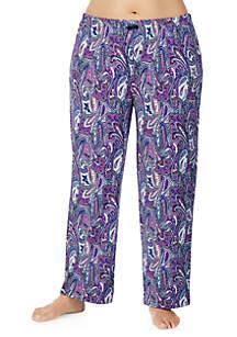 Plus Size Printed Sleepwear Pants