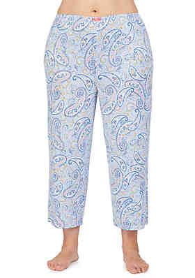 Ellen Tracy Plus Size Cropped Sleep Pants ... 46f215e06