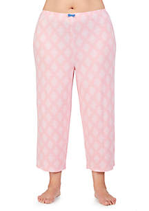 Ellen Tracy Plus Size Cropped Sleep Pants