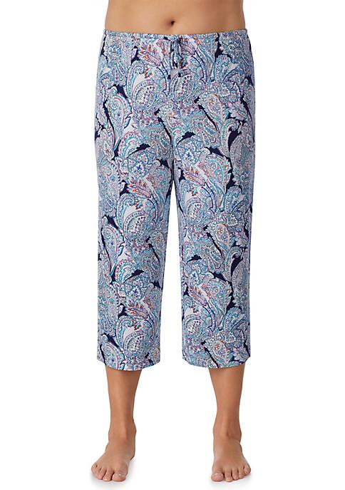 Plus Size Crop Pajama Pants