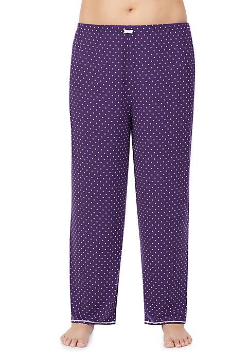 Ellen Tracy Plus Size Long Sleep Pants