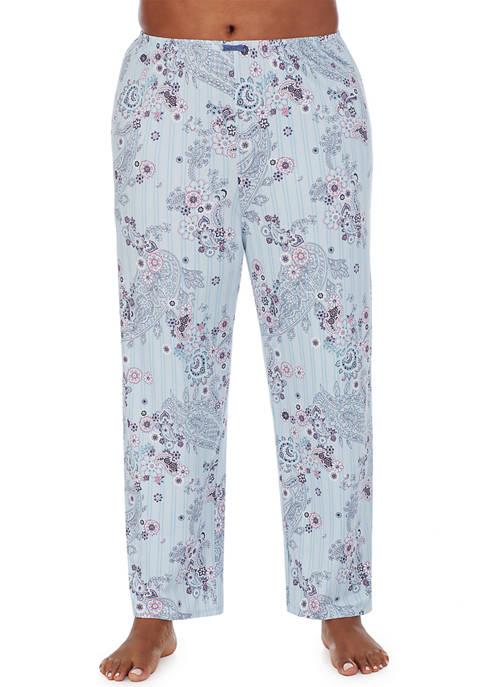 Ellen Tracy Plus Size Floral Paisley Pajama Pants