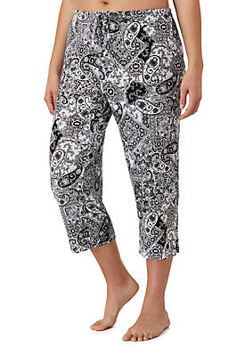 Plus Size Drawstring Lounge Capri