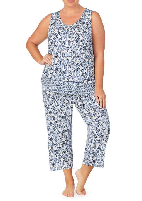 Ellen Tracy Plus Size 2 Piece Pajama Set