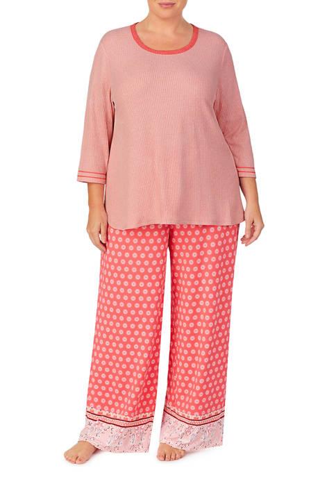 Ellen Tracy Plus Size Palazzo Pant Pajama Set