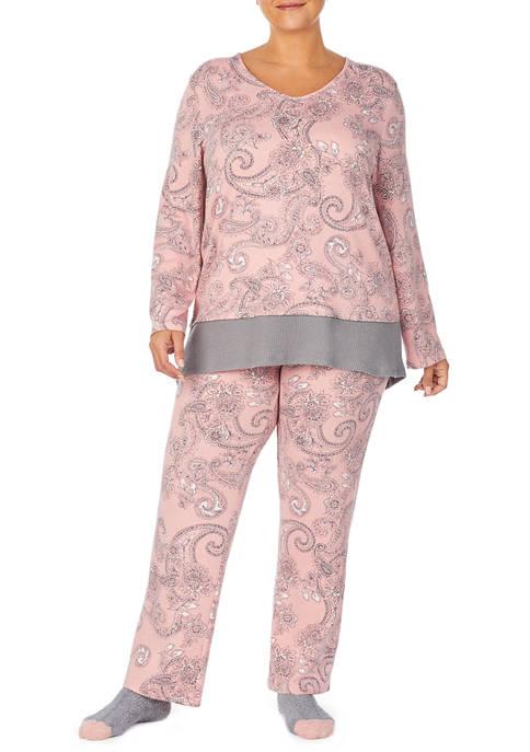 Ellen Tracy Plus Size Pajama Set