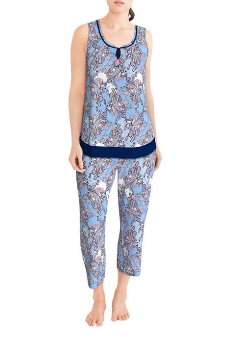 Ellen Tracy Sleeveless Capri Pajama Set
