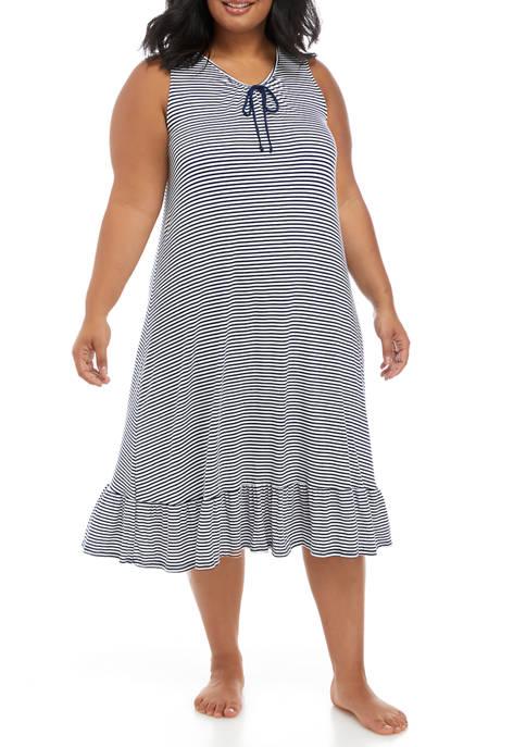 Ellen Tracy Plus Size Sleeveless Midi Gown