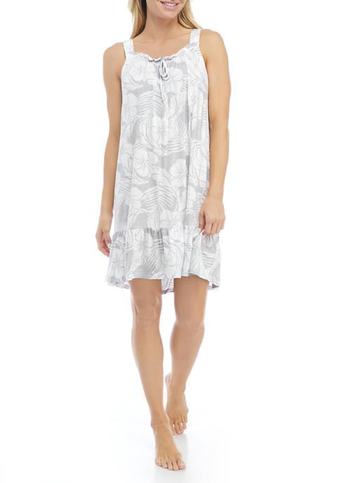Ellen Tracy Sleeveless Short Nightgown