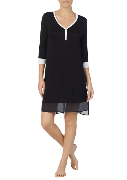 DKNY 3/4 Sleeve Sleepshirt