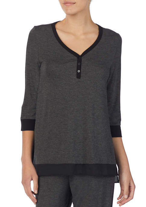 DKNY 3/4 Sleeve Sleep Top
