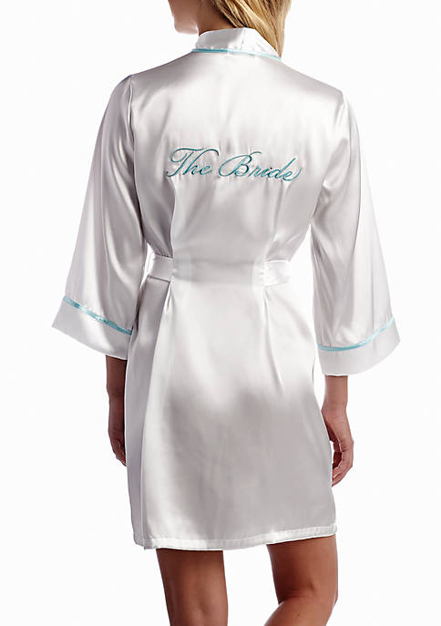 California Dynasty Satin Bridal Wrap Robe