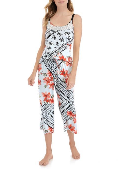 Linea Donatella 2 Piece Floral Patch Pajama Set