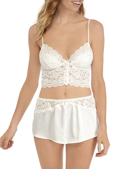 Floral Lace Bralette and Shorts Set