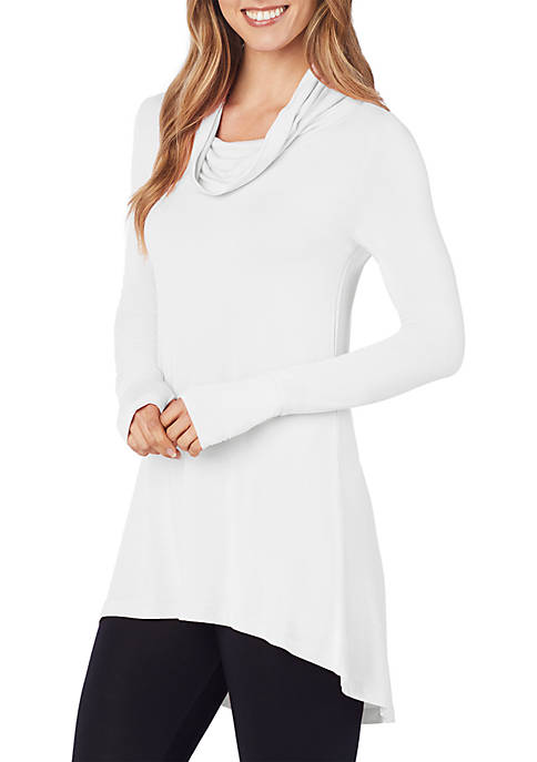 Softwear with Stretch Long Sleeve Cowl Tunic