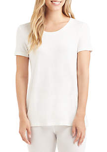 Softwear with Stretch Short Sleeve Scoop Neck Tee