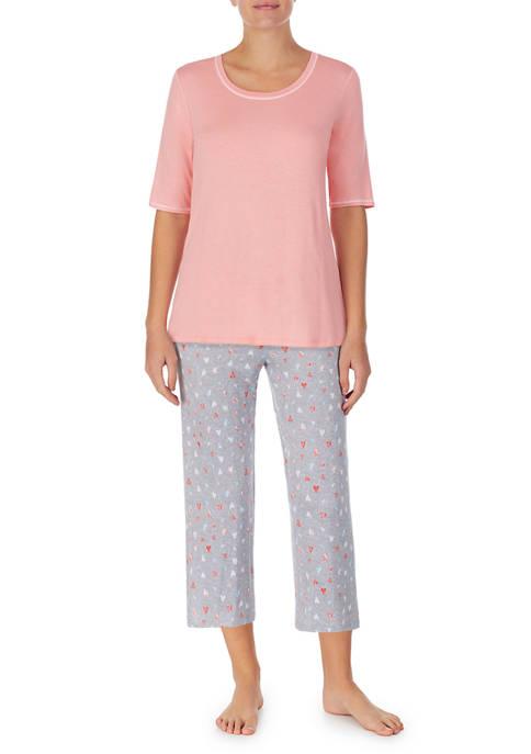 Cuddl Duds® Elbow Sleeve Pajama Set