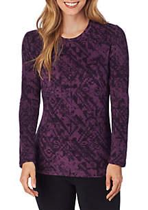 Fleecewear with Stretch Long Sleeve Crew Top