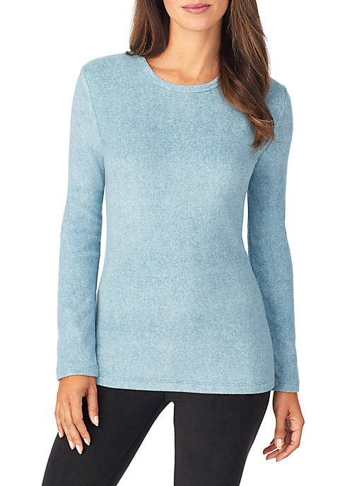 Cuddl Duds® Womens Long Sleeve Sleep Top