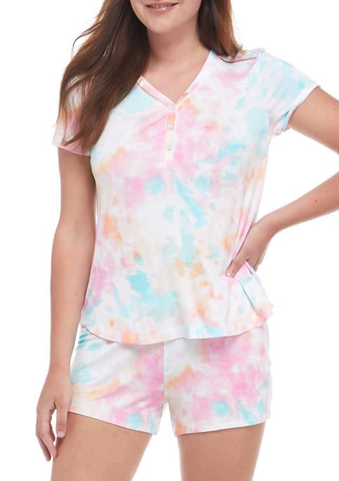 Cuddl Duds® Short Sleeve Boxer Pajama Set