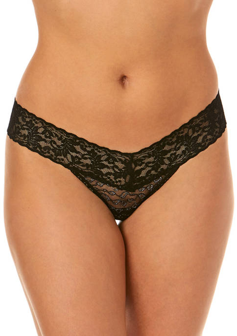 One Size Thong in Lurex® Lace