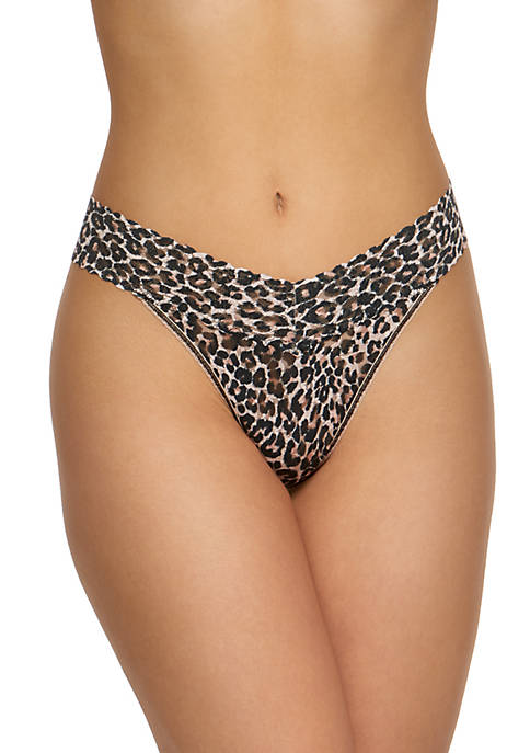 Hanky Panky® Classic Leopard Signature Lace Original Thong