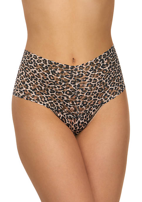 Hanky Panky® Classic Leopard Signature Lace Retro Thong