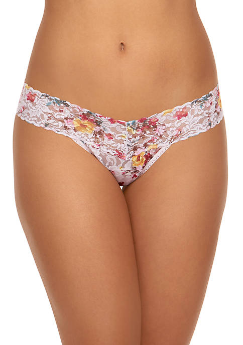 Hanky Panky® Floral Low Rise Thong