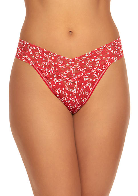 Hanky Panky® Heart Peppermint Lace Thong