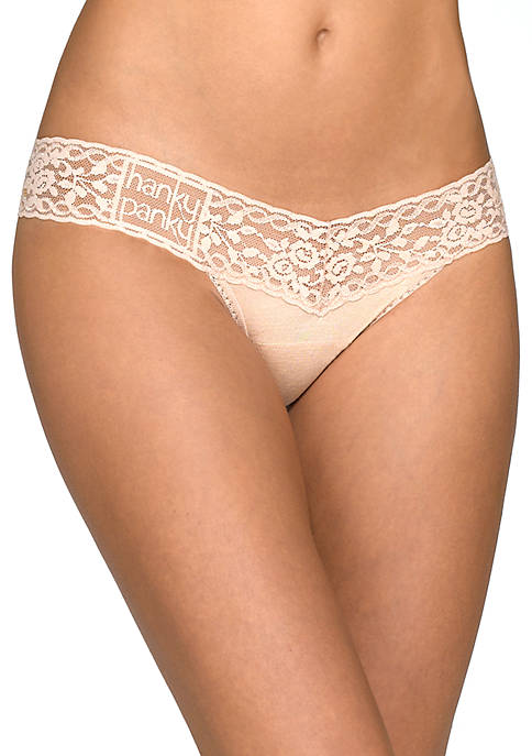 Hanky Panky® Modal Logo Wide Band Low Panties