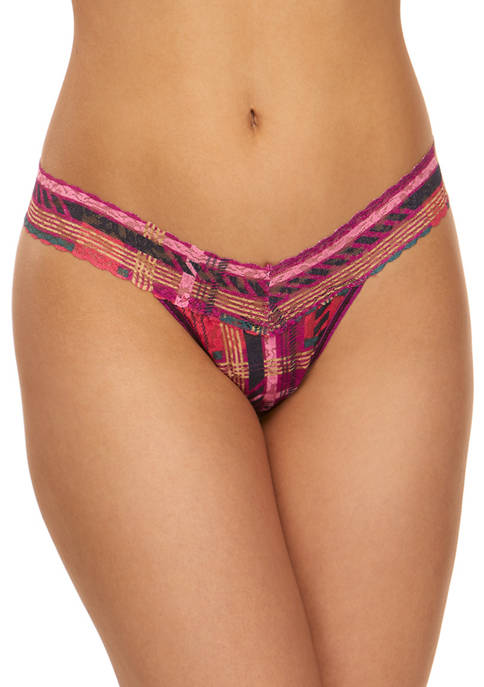 Plaidness Signature Lace Low Rise Thong