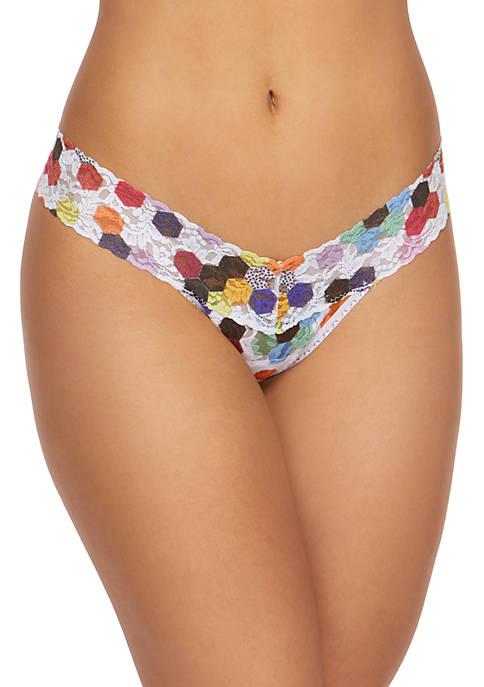 Dot Low Rise Lace Thong