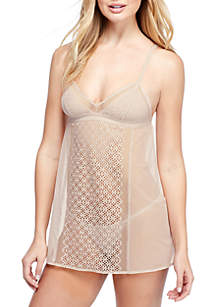 Sheer Lace Chemise with G-String - DK2012